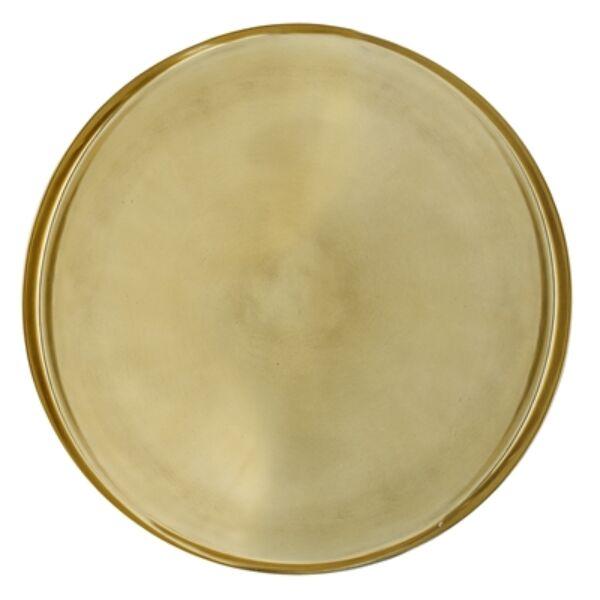 Arany színű kerek fém tálca Ø50 cm