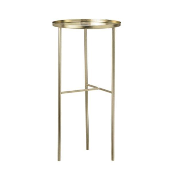 Arany színű kerek kisasztal