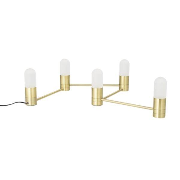Arany színű 5 égős LED asztali lámpa