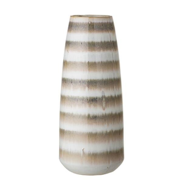 Barna csíkos kerámia váza