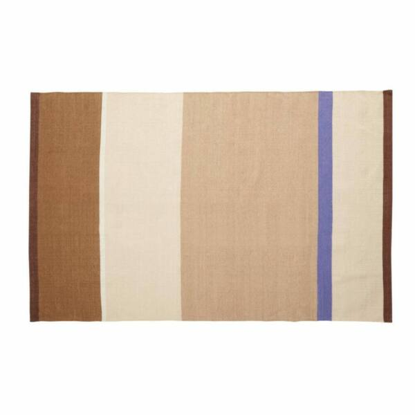Barna és kék csíkos szőnyeg 120x180 cm