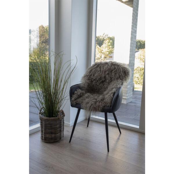 Barna mongol báránybőr üléstakaró 90x50 cm