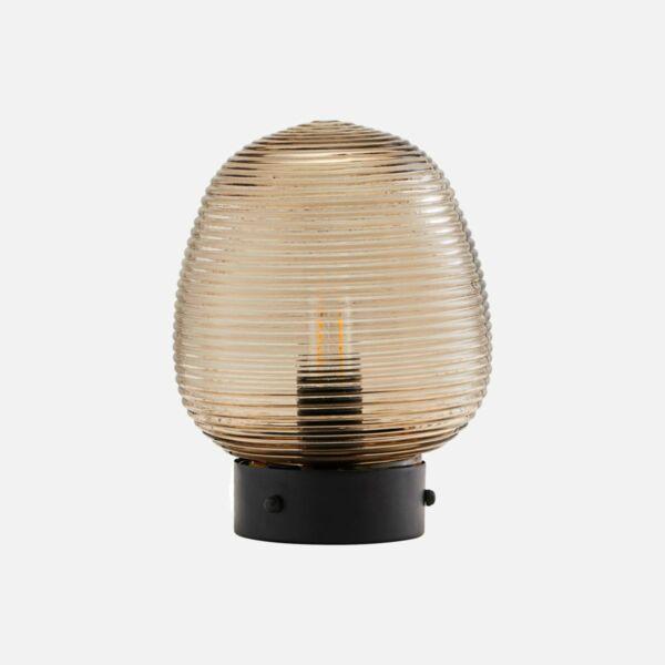 Barna üveg asztali lámpa