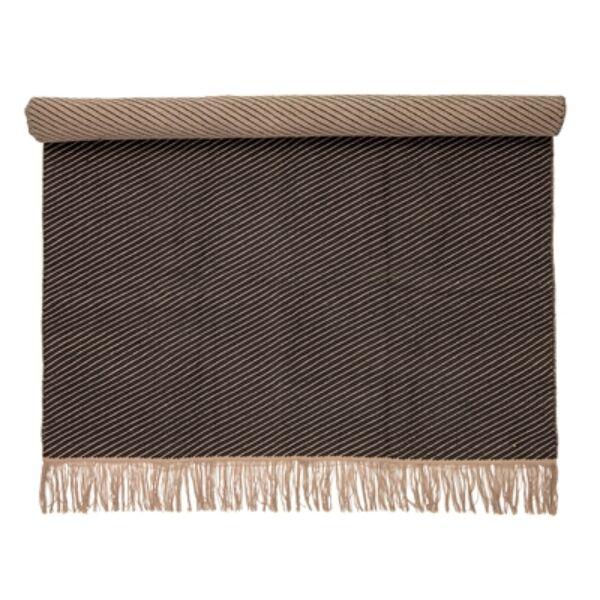 Barnásfekete pamut szőnyeg 200x140cm