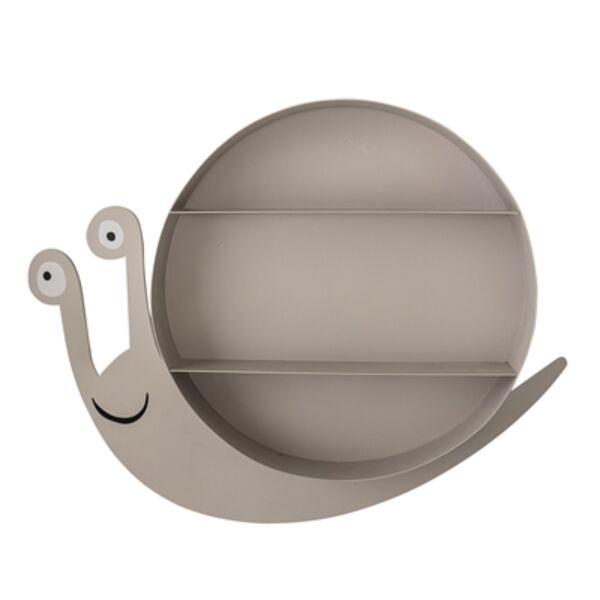 Csiga alakú fém polc