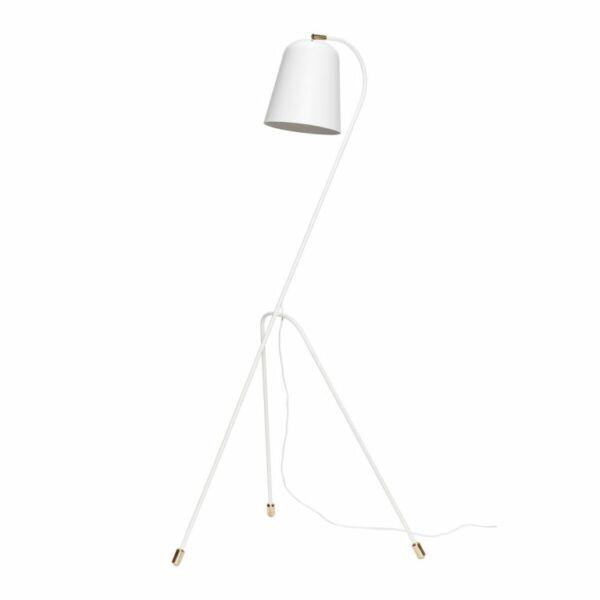 Elegáns fehér állólámpa 156 cm