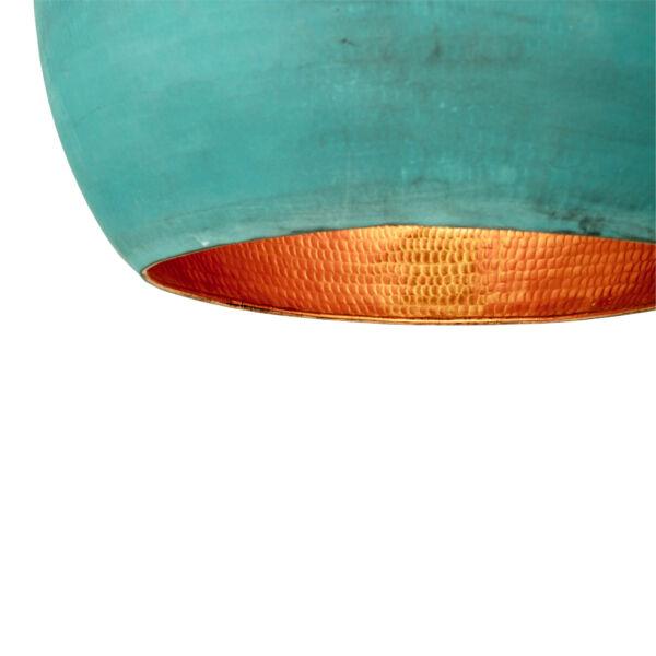 Elegáns kék gömb függőlámpa Ø25 cm