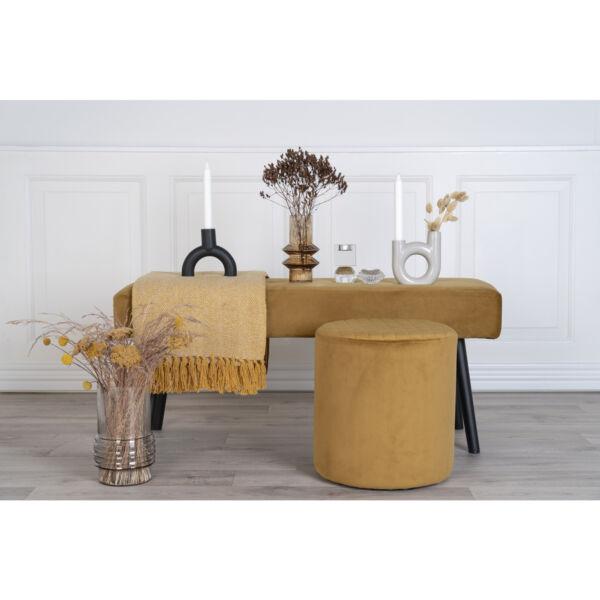Elegáns mustársárga bársony ülőpad