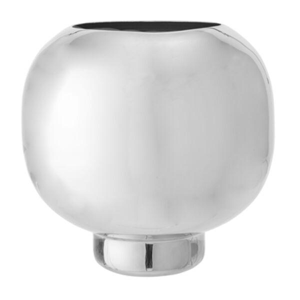 Ezüst fém váza Ø24xH25 cm