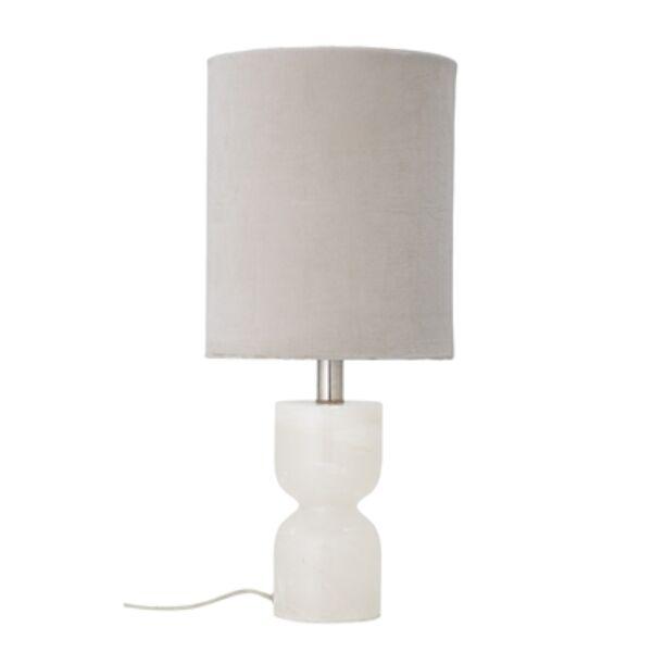 Fehér alabástrom asztali lámpa