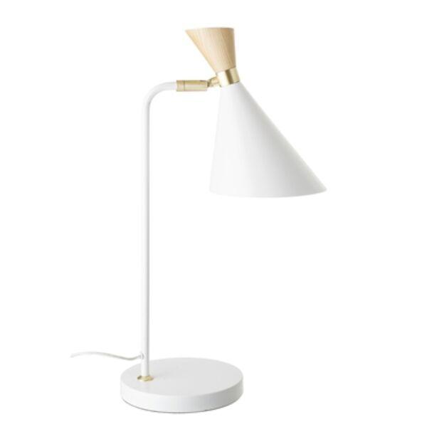 Fehér fém asztali lámpa 52 cm