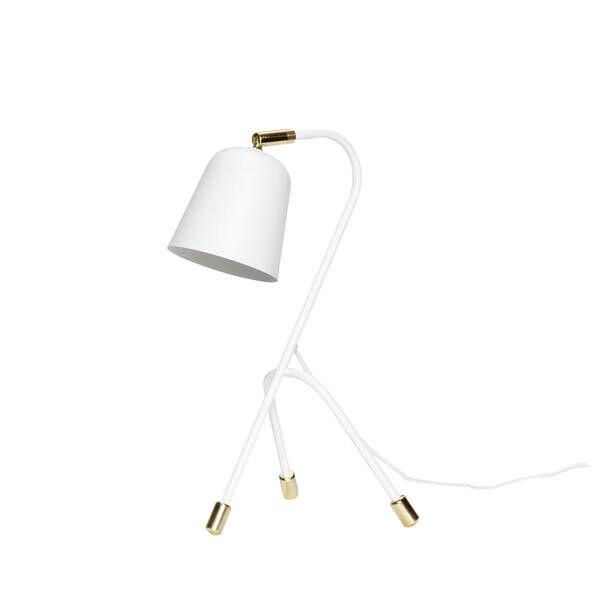 Fehér háromlábú asztali lámpa