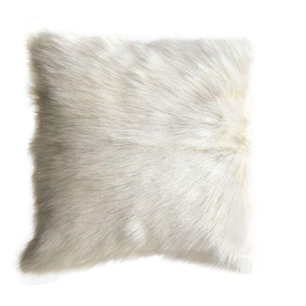 Fehér kecskebőr díszpárna40x40 cm