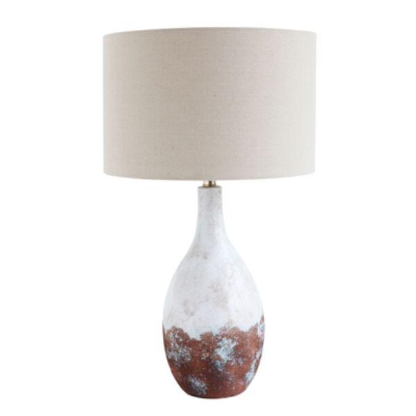 Fehér kerámia asztali lámpa 70 cm