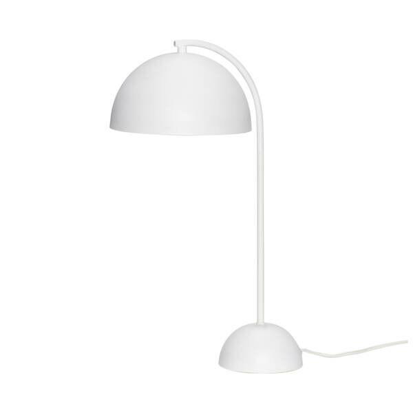 Fehér kerek búrájú asztali lámpa