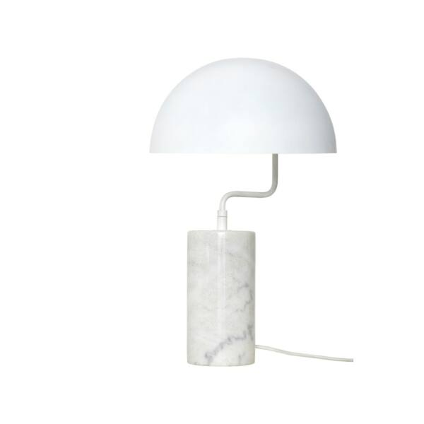Fehér márvány asztali lámpa 48 cm