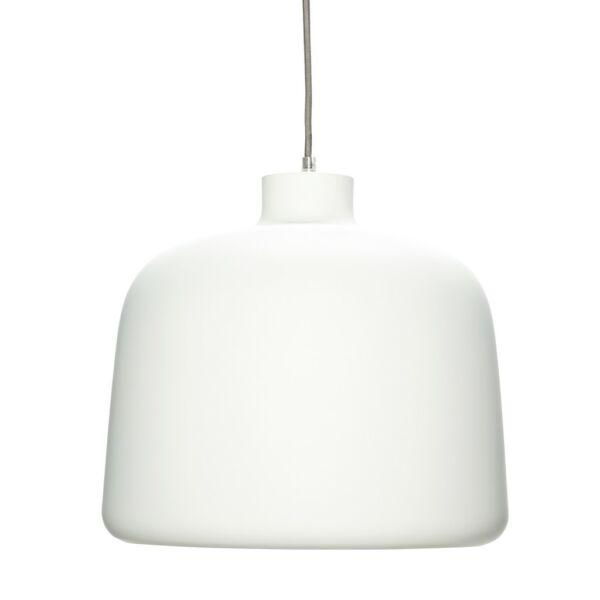 Fehér matt függőlámpa 35 cm