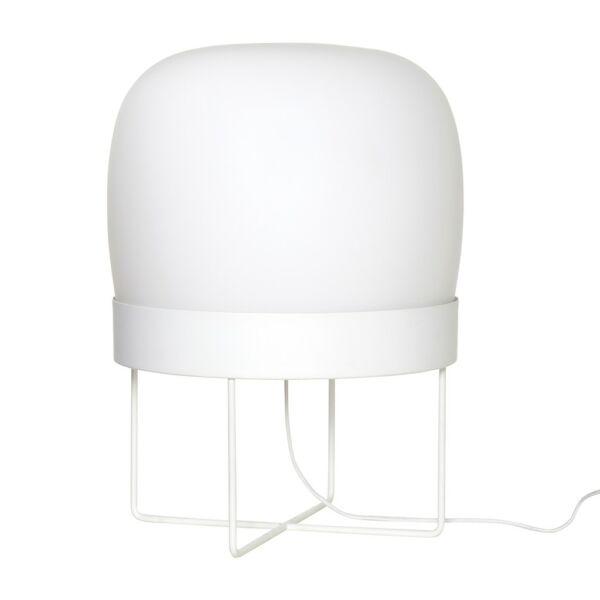 Fehér matt üveg állólámpa 55 cm