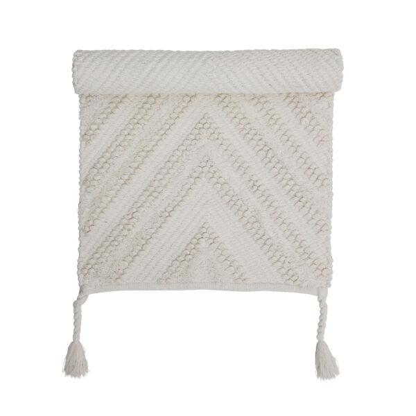 Fehér pamut szőnyeg95x55cm