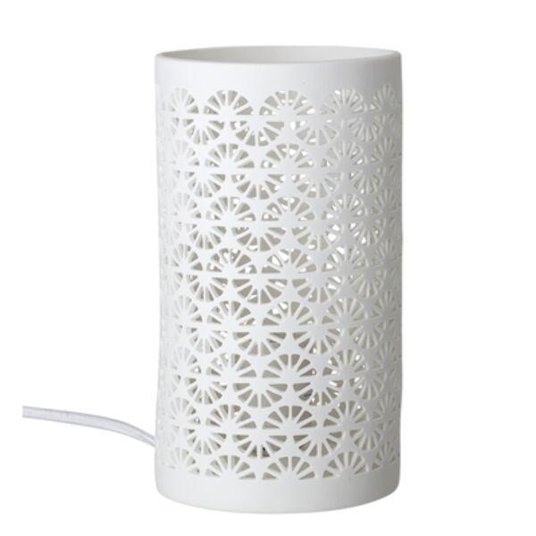 Fehér porcelán asztali lámpa
