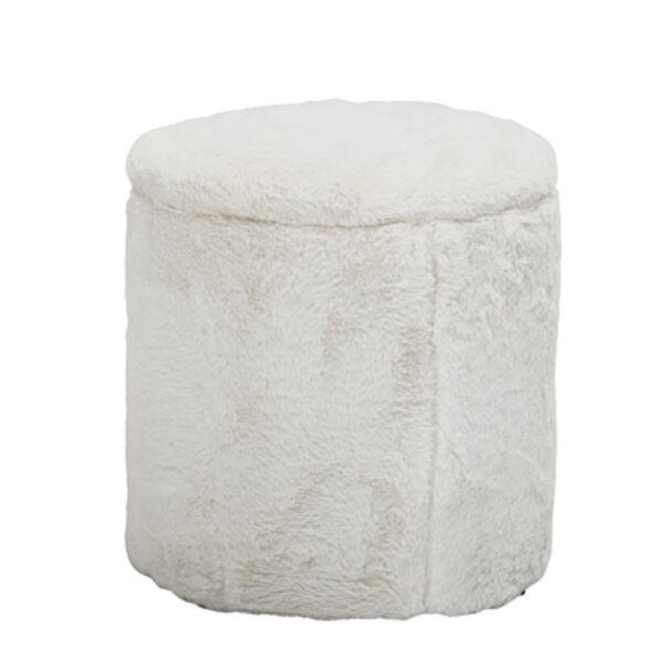 Fehér puff tárolóval
