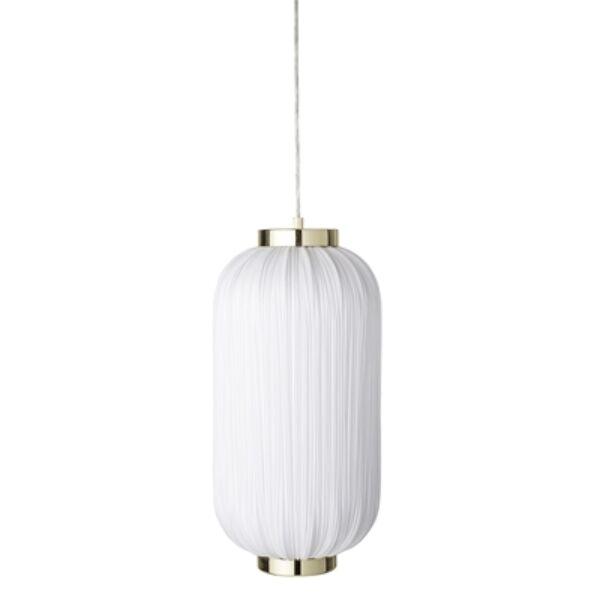 Fehér textil függőlámpa 50 cm