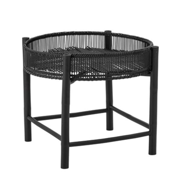 Fekete bambusz kisasztal