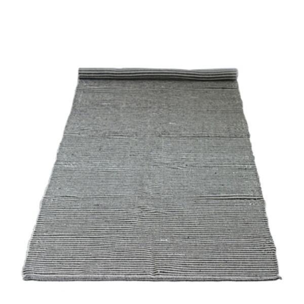 Fekete csíkozott pamut szőnyeg 240x75 cm