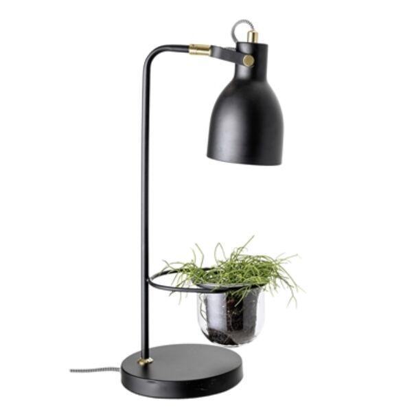 Fekete fém asztali lámpa kaspóval 49 cm