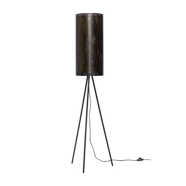 Fekete fém háromlábú állólámpa