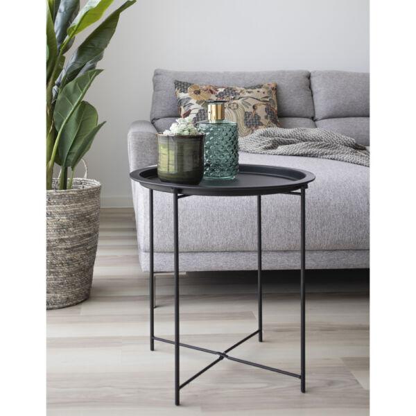 Fekete fém kisasztal