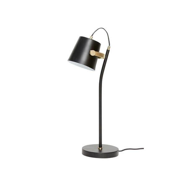 Fekete kis asztali lámpa