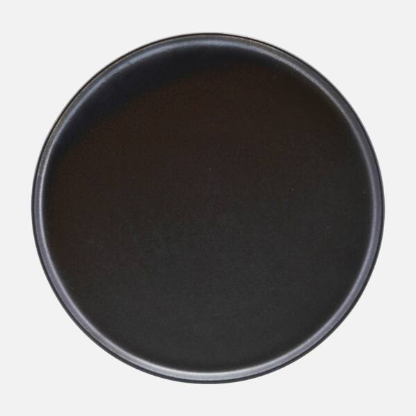 Fekete lapostányér 6 db