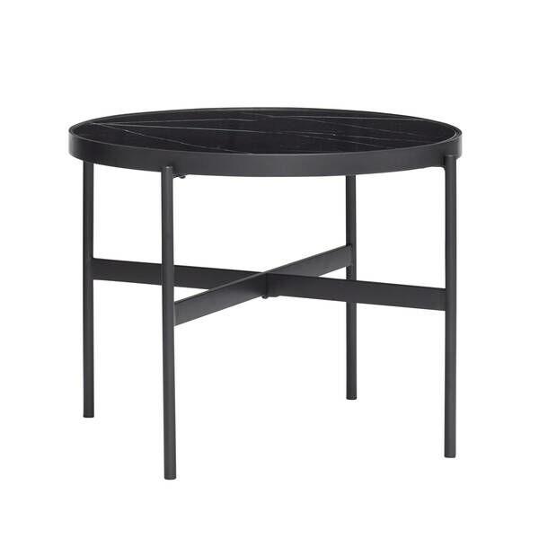 Fekete márvány kerek kisasztal