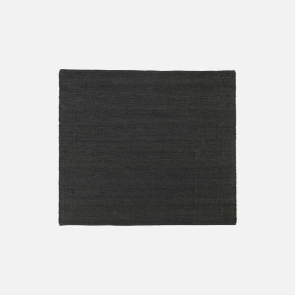Fekete négyzet alakú juta szőnyeg 180x180 cm