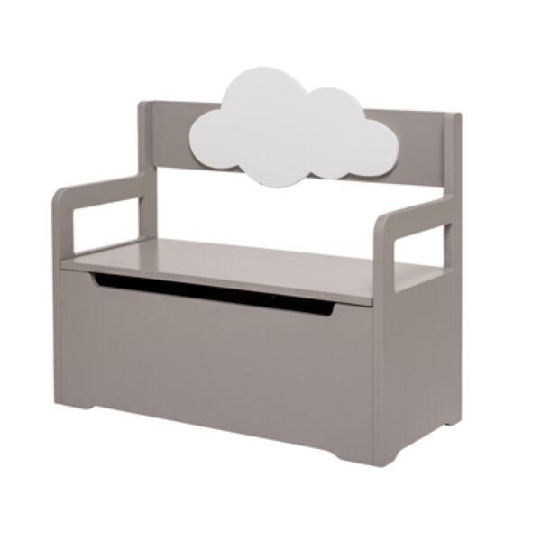 Felhős pad tárolóval