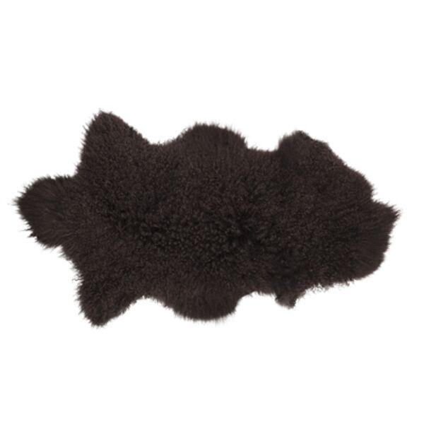 Földbarna báránybőrüléstakaró 90x50 cm
