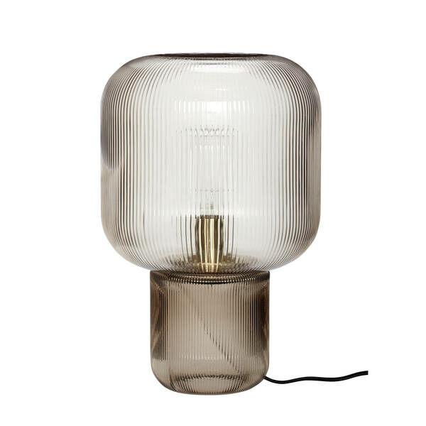 Füst színű üveg asztali lámpa