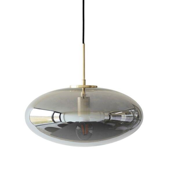 Füstüveg lapított függőlámpa 40 cm
