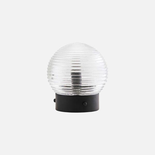 Gömb üveg asztali lámpa
