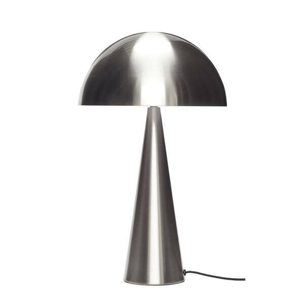 Gomba alakú ezüst színű asztali lámpa