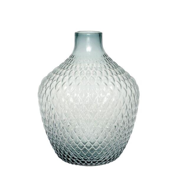 Halvány kék üveg váza Ø28xH38 cm