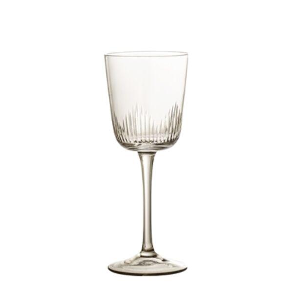 Halványbarna üveg borospohár készlet 6 db 230 ml