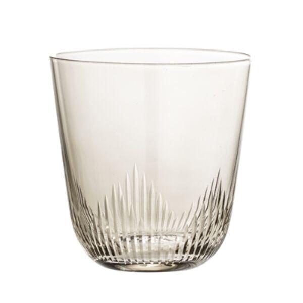Halványbarna üveg vizespohár készlet 6 db 370 ml
