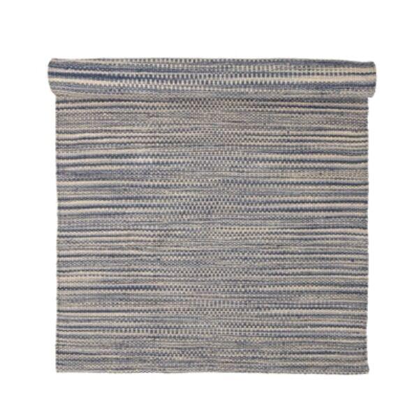 Kék csíkos juta szőnyeg 200x80 cm