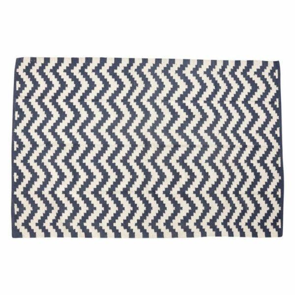 Kék és fehér mintás pamut szőnyeg 120x180 cm