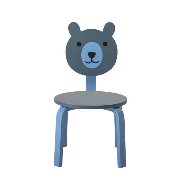 Kék macis szék 2 db