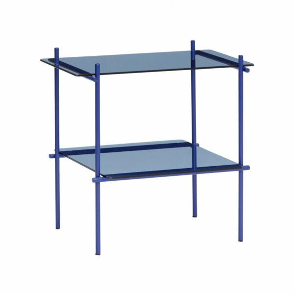 Kék üveg kisasztal