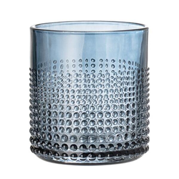 Kék üveg vizespohár készlet 6 db 300 ml