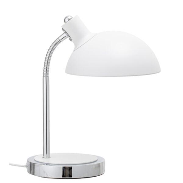 Klasszikus fehér fém asztali lámpa